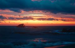 Sunset on Delaware Bay Stock Photos
