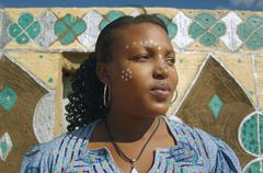 African woman with paint on face Stock Photos