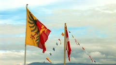 Flags g 1 Stock Footage