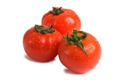 Stock Photo of wet fresh tomato