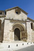 church of san miguel, romanesque transition, thirteenth century. - stock photo