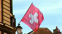 Switzerland flag Stock Footage