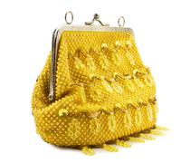 Female yellow handbag Stock Photos