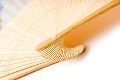 folding fan - stock photo