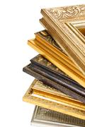 stack of picture frames - stock photo