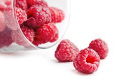 Stock Photo of berries raspberries in a glass