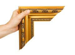 Element of the frame  in hand Stock Photos