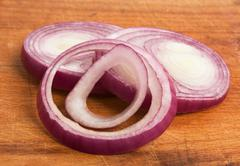 sliced onions - stock photo
