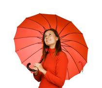 Stock Photo of young girl with an umbrella