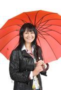 Stock Photo of woman with umbrella