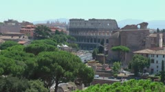 Roman Colosseum in distance - stock footage