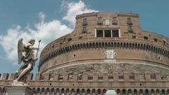 Castel Sant'Angelo front Stock Footage