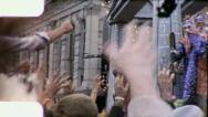 GODDESS TEMPLE HARLEQUINS Mardi Gras NEW Float 1950 Vintage Film Home Movie 4042 Stock Footage