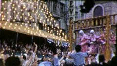 Stock Video Footage of COTTON CANDY VENDOR Mardi Gras New Orleans 1960s Vintage Film Home Movie 4045