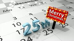 25th december Christmas celebration. Stock Footage