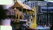 SULTAN OF MEDINA Mardi Gras Parade New Orleans 1960 Vintage Film Home Movie 4053 Stock Footage