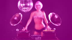 Stock Video Footage of burlesque dj gramophones