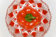 Red pepper in a beautiful vase Stock Photos