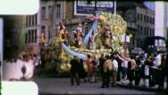 ARABIAN SWORDS Mardi Gras Parade New Orleans 1960s Vintage Film Home Movie 4057 Stock Footage