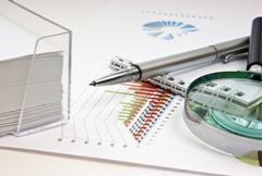 working paper with a diagram - stock photo