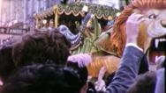 ROARING LION Mardi Gras Float NEW ORLEANS 1950s Vintage Film Home Movie 4069 Stock Footage