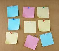 Stock Photo of reminder notes