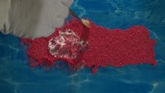 Turkey map - artist Stock Footage