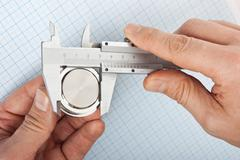 measurement of the size of the details - stock photo