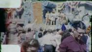 UNICORN CASTLE Mardi Gras Float New Orleans 1960s Vintage Film Home Movie 4081 Stock Footage