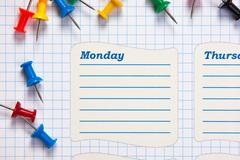 School schedule for the week Stock Photos