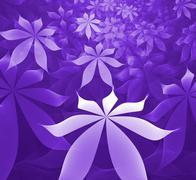 Stock Illustration of purple flowers