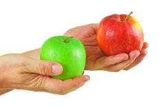 Stock Photo of two apples in the hands