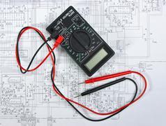 old multimeter - stock photo