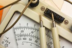 old analog multimeter - stock photo