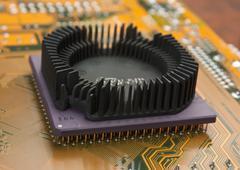silicon chip - stock photo