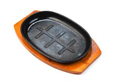 cast-iron pan - stock photo