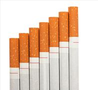 stairway to hell out of cigarettes - stock photo