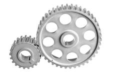 two gear - stock photo