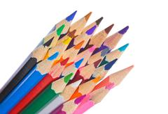 colored pencils - stock photo