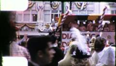 KIDDY LAND Mardi Gras Float New Orleans 1960s Vintage Film Home Movie 4097 - stock footage