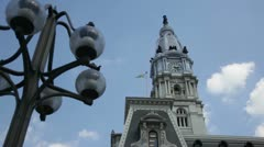 Philadelphia City Hall Stock Footage