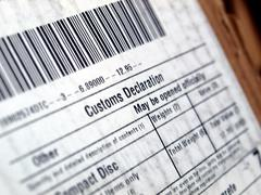 Stock Photo of customs declaration