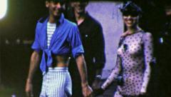 Stock Video Footage of SEE THROUGH Dress Girl CROWD Sexy Mardi Gras 1960s Vintage Film Home Movie 4116