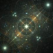 Stock Illustration of sparkles in space