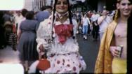 Stock Video Footage of GAY MEN Mardi Gras NEW ORLEANS Trans Gender 1950s Vintage Film Home Movie 4120