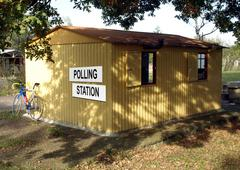 Stock Photo of polling station