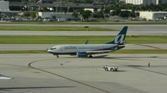 Air Tran passenger jet Stock Footage