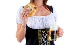 Beer and snack Stock Photos