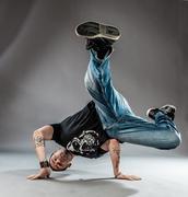 dancer - power freeze - stock photo