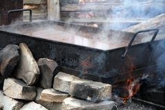 maple sugar - stock photo